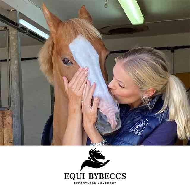 Utbildad - Certifierad - diplomerad hästterapeut och hästmassör - Equibybeccs utför hästmassage i vellinge trelleborg och Malmö kommun